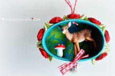 [luzia pimpinella BLOG ] DIY: tierische tannenbaumanhänger zu weihnachten / wild animal tree ornaments for christmas