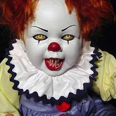 ScArY clown baby doll