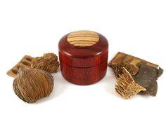 Hand made wooden box made from Padauk & Zebrano, Wooden keepsake box, Woodturning, Ring box, Jewellery box, Lidded box, SilvanWoodturning by SilvanWoodturning on Etsy