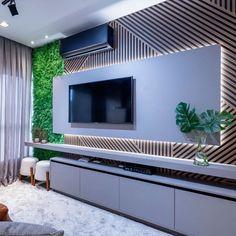 Living Room Wall Units, Living Room Tv Unit Designs, Accent Walls In Living Room, Small Living Rooms, Living Room Decor, Tv Cabinet Wall Design, Lcd Wall Design, Salas Home Theater, Modern Tv Units