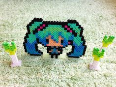 Hatsune Miku Perler Beads by Perlerbeads Art Studio