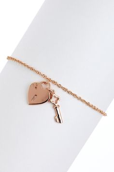 Key To My Heart Bracelet-Rose Gold makes it different!