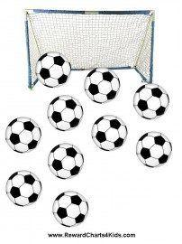 Soccer Goal With Soccer Balls Sticker Chart Goals Printable Kids Routine Chart