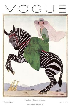 ⍌ Vintage Vogue ⍌ art and illustration for vogue magazine covers - January 1920