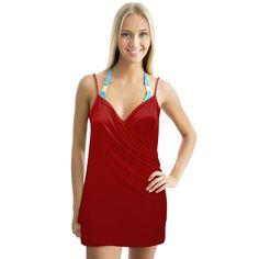 Backless Beach Dress Wrap, Red