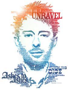 Thom Yorke - typographic portraits