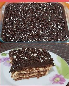Greek Sweets, Greek Desserts, Party Desserts, Summer Desserts, Greek Recipes, Chocolate Sweets, Chocolate Recipes, Low Calorie Cake, Icebox Cake