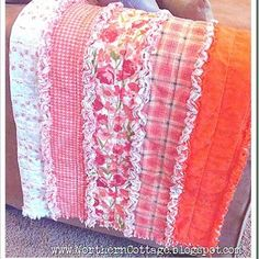 Ruffle RAG Quilt How-To perfect for all my leftover flannel from making kid's pj bottoms