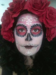My sugar skull face I had painted