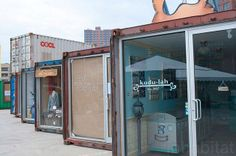 DeKalb Market: Shipping Container Stores, NYC