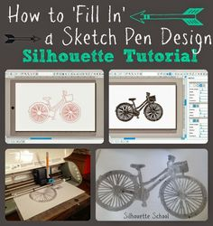 Filling in Silhouette Sketch Pens (or Pencil) Designs