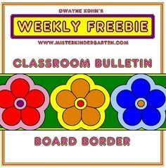Have your students decorate the classroom with this colorful flower border! They color in the three sections, glue them together and join with the rest of the students to create enough to go around the class! Great for back to school, springtime, a Hawaiian luau or anytime!