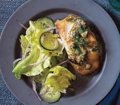 Pan-Fried Cod with Mustard Caper Sauce