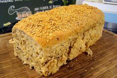 Pão Integral de Grãos e Iogurte