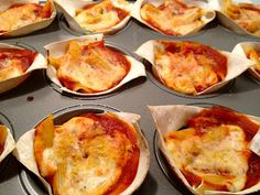 Denise On Earth: Spinach pasta cups.
