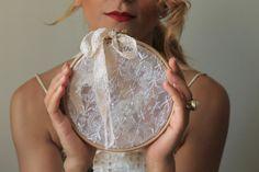 rustic ring ring bearer wedding decor / lace by cornerofthegarden, $24.00