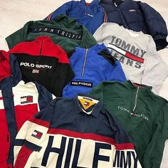 Vintage Tommy Hilfiger and vintage Polo Ralph Lauren sport jackets from Gully Garms.