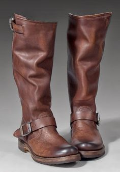 Frye Brown Long Leather Boots | FASHION TURKEY