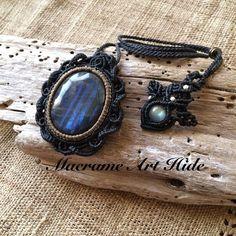 ラブラドライト!! #macrame#pendant #necklace #accessories #Fashion #gemstone #天然石#パワーストーン#ネックレス#ペンダント#アクセサリー#ハンドメイド#handmade #labradorite #ラブラドライト #macramearthide