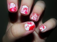 Bloody Nails Halloween Tutorial Manicure doing for next year