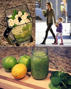 Slimming Detox Smoothie - Model Favorite! 1-very unripe banana 1-one large pear and or green apple 1 cup of spinach 1 cup of romaine lettuce or I prefer KALE Juice of 2 lemons 1-cup of celery Organic honey or I prefer Truvia (natural sweetener) to sweeten 1 cup of very cold water.
