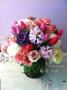 Beautiful #prettyinpink floral centerpiece #designerschoice