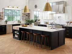 Kitchen Countertops Step inside this inspired, stunning kitchen and start dreaming about how you might make over your own space. - Step inside the 2018 Food Network Fantasy Kitchen and be inspired to update your own. Kitchen Pantry Cabinets, Kitchen Reno, Kitchen Countertops, New Kitchen, Kitchen Remodel, Kitchen Design, Kitchen Ideas, Kitchen Pictures, Kitchen Island