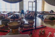 Photo of Gong Meditation   a.k.a gong baths.   This experience is beyond words.