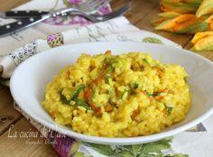 Risotto ai fiori di zucca ricetta per risotto cremoso e gustoso Food And Drink, Terra, Ethnic Recipes, Cooking, Kitchen, Brewing, Cuisine, Cook