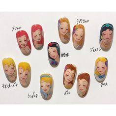 Cute Nail Art, 3d Nail Art, Nail Arts, Cute Nails, Disney Princess Nails, Disney Nails, Anime Nails, Frozen Nails, Nail Lab