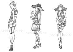 Fashion Illustration Sketch Woman  Image cakepins.com