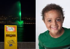 We set up a kiosk on Oriental Parade in Wellington where Fly Buys members could swipe their cards to activate the Carter Fountain, light it up using a mini light show and at the same time make something a little bit good happen for brave Wellingtonian, Elijah. Eight year old Elijah battled Leukaemia for five years and his wish was to have a jungle playhouse in his backyard, complete with a flying fox. For every swipe that activated the fountain we donated five dollars to make his wish come… Wish Come True, Kiosk, Play Houses, Brave, Fountain, Oriental, Fox, Backyard, Shit Happens