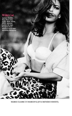 Eva Mendes in Marie Claire US wearing Myla.