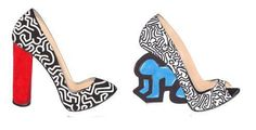 Fashion can for sure be considered a form of art. Expecially in such a case... Nicholas Kirkwood found his inspiration on Keith Haring's style!