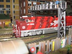 Very beautifully done model train, look at that detail :)