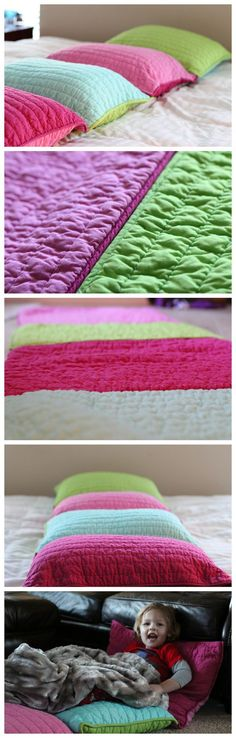 A quick and easy and very *simple sew* project for a pillow bed. Perfect for a toddler mat at school, lounging, or sleepovers!