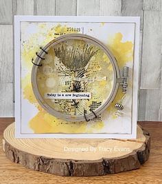 """Today I am showcasing a mixed media card using my newly released Border Stamp """"Brush Flower"""" from AALLandCreate . Mixed Media Cards, Best Vibrators, Distress Ink, Flower Cards, New Beginnings, Cardmaking, Vintage World Maps, Delicate, Create"""