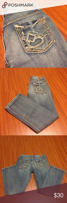 BKE Culture Bootcut Jeans BKE Culture Bootcut Jeans-Like new, no flaws-Some factory distress-Stretch-Waist 31-Inseam 29 1/2-Any questions just ask! No trades or try ons! Thanks BKE Jeans Boot Cut