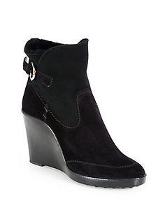 Salvatore Ferragamo Reno Shearling Ankle Boots