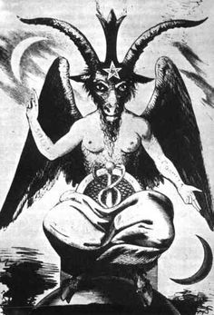 """Baphomet -- notice the way the arms are...""""as above so below""""...illuminati symbolism"""