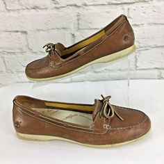 a2e12183c40 Timberland Womens Benin Boat shoe 9.5 M Brown Leather Moc Toe loafer   Timberland  Loafers