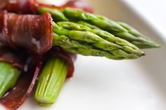 Asparagus, an aphrodisiac, wrapped in prosciutto will get mouths watering.