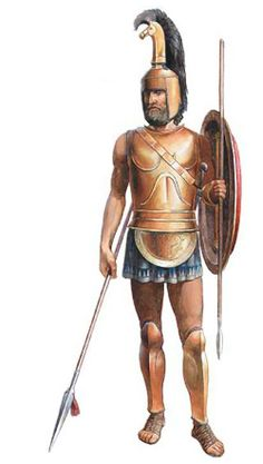 Archaic Greek early hoplite, circa 600 BC ./tcc/