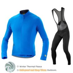 Mavic Winter Cycling Jersey 2018 Pro Team Cycling Set Thermal Fleece Men  Long Sleeve Bike Clothes Maillot Ropa Ciclismo Invierno. 254e705af