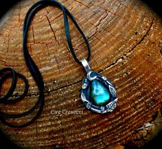 Leaf and Moon Labradorite Talisman by EireCrescent on Etsy, $89.99
