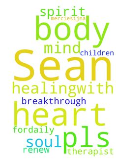 Pray for Sean, pls -  God, I ask Sean has breakthrough in healingwith therapist. Renew my children in heart, mind, spirit, soul amp; body Thank You, Lord amp; fordaily mercies.IJNA  Posted at: https://prayerrequest.com/t/zbn #pray #prayer #request #prayerrequest