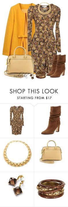 """""""Flowers in the Fall"""" by imclaudia-1 ❤ liked on Polyvore featuring Paul & Joe, Manolo Blahnik, Milly and Baccarat"""