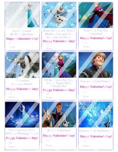 Disney Frozen Printable Digital Personalized Valentines Day Cards #5