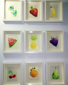 Diy Paint Chip Fruit Art Paint Samples Crafts Paint Swatch Art