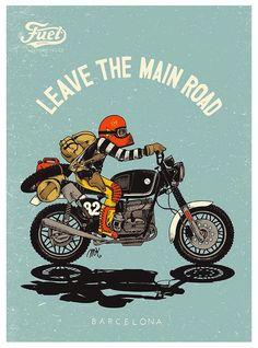 The Bullitt: Motorcycle Illustrations :: Fuel Motorcycles